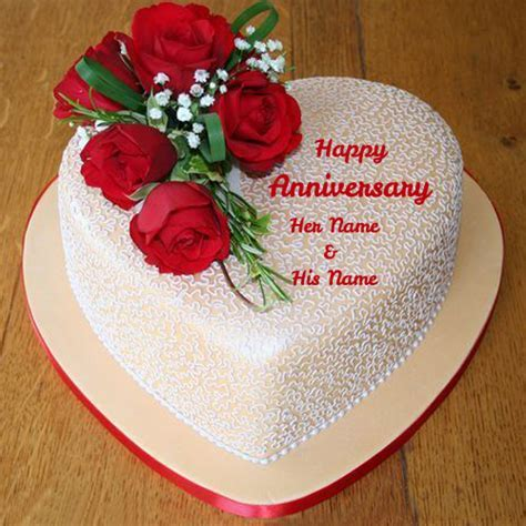 Write Your Name on anniversary cakes pictures online edit