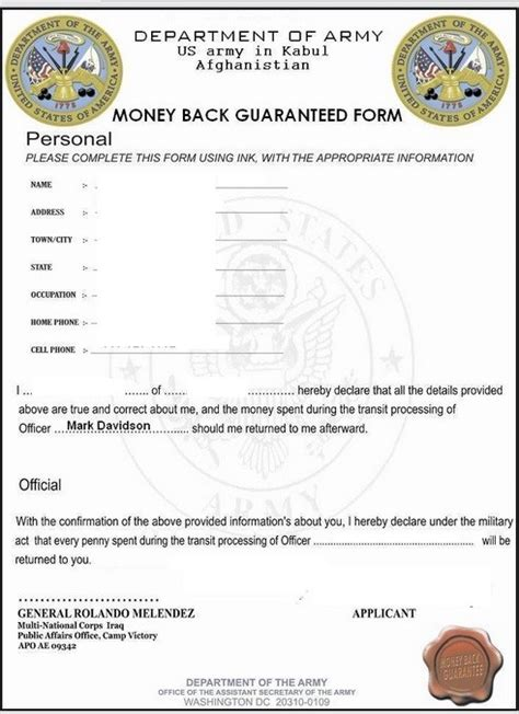 con artists using fake military documents to swindle money