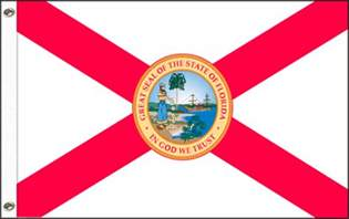 florida state colors let it fly florida s state flag in god we trust