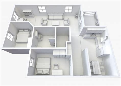 house plans 3d models house floor plan 2 non textured version 3d model cgstudio
