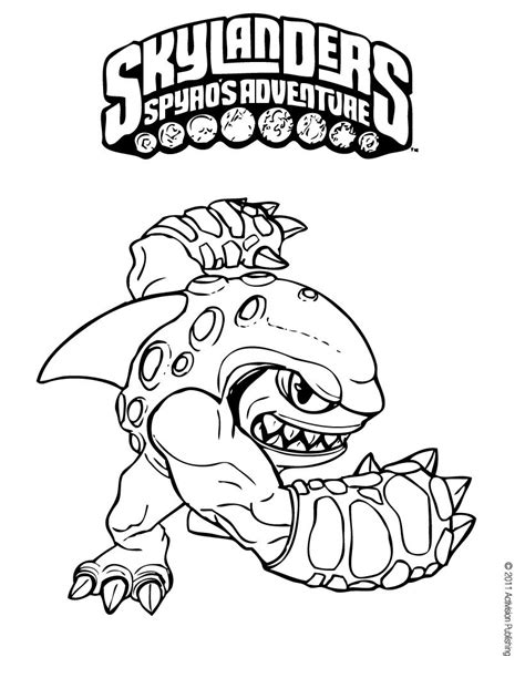 Terrafin Coloring Pages Hellokids Com Free Skylander Coloring Pages