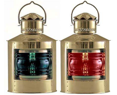 port and starboard colors brass side light port or starboard electric new