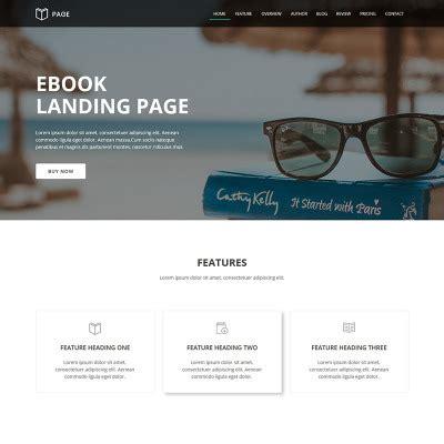 ebook landing page template templates para de informatica