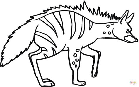 striped hyena 5 coloring page free printable coloring pages