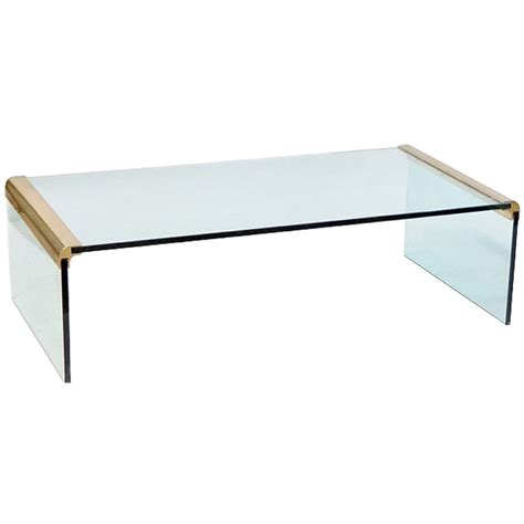 glass waterfall end table coffee tables ideas glass waterfall coffee table design