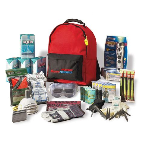 Earthquake Kit Amazon | ready america 70385 deluxe emergency kit 4 person backpack