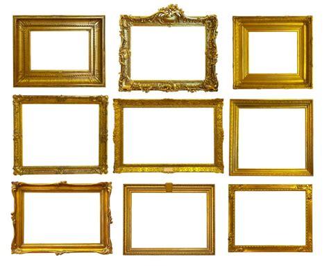 set of 6 magnetic gold frames picture frames by cb2 sticker set of gold picture frames pattern pixersize com