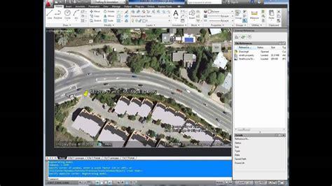 tutorial autocad raster design 2012 autocad tutorial insert georeference google earth image