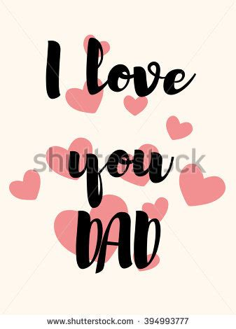 imagenes love you love you dad fathers day best stock vector 394993777