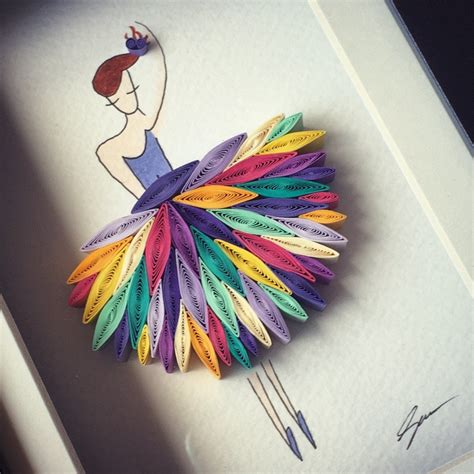 Paper Craft Artists - quilled paper i wanna with somebody