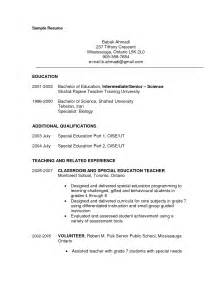 Resume Sles For Special Education Teachers Assistants Aide Resume Sales Lewesmr