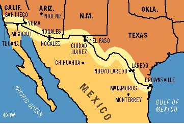 map of texas mexico border towns us mexico border map search house of the scorpion mountain range