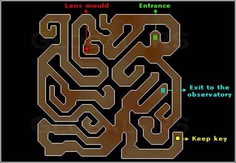 observatory dungeon map observatory quest guide global runescape