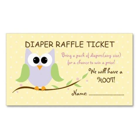 Ticket Business Card Template by Owl Raffle Ticket Business Cards Templates