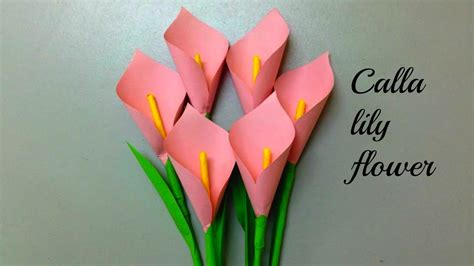 How To Make Paper Flowers Out Of Construction Paper - how to make a calla flower out of paper how to make