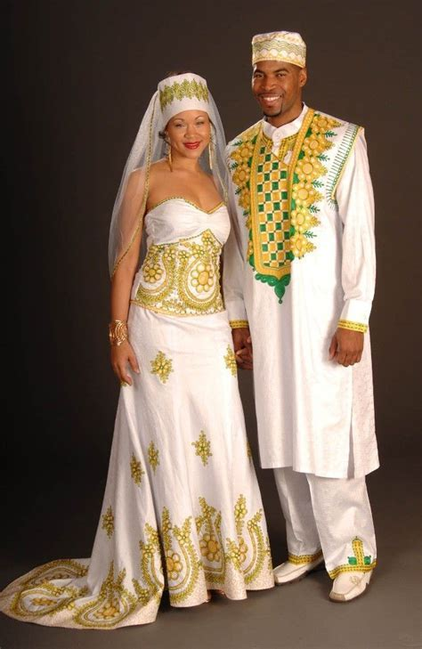 This couture embroidered and African inspired wedding
