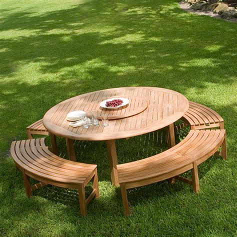 round outdoor bench round teak picnic table round outdoor table