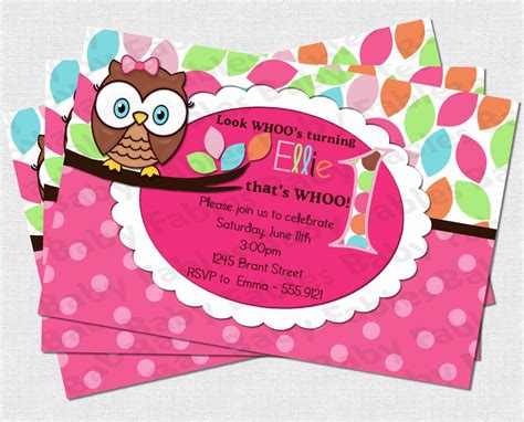 owl birthday card template birthday invitation templates free printable
