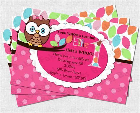 owl birthday card template birthday invitation templates free printable