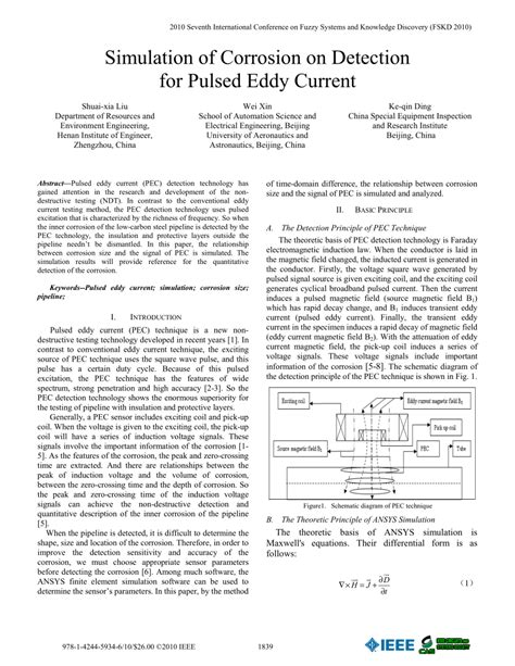 (PDF) Simulation of corrosion on detection for pulsed eddy