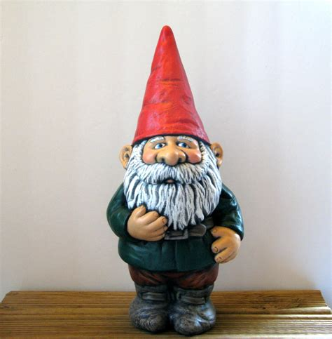 lawn gnome ceramic garden gnome 14 inches hand painted lawn or garden