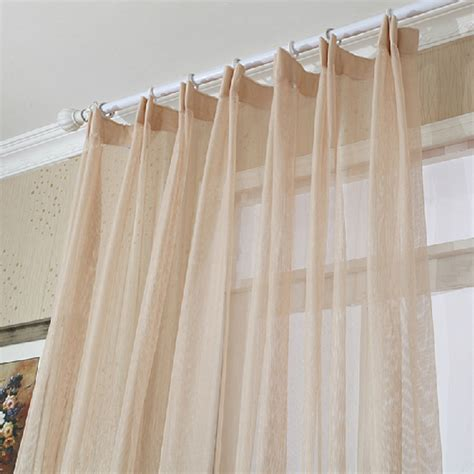 Beige sheer curtain in soft and classic style
