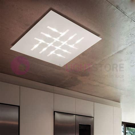 design led l pattern plafoniera da soffitto a led l 80 design moderno braga