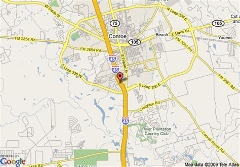 map conroe texas map of baymont inn and suites conroe conroe
