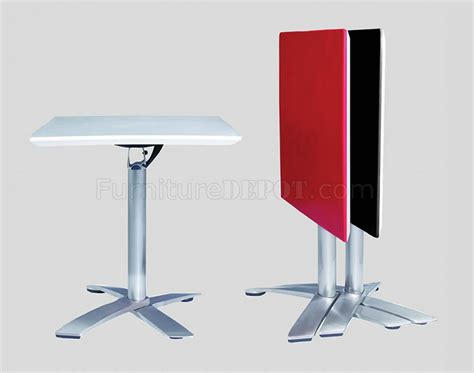 Folding Bar Table White Or Black Contemporary Folding Square Bar Table