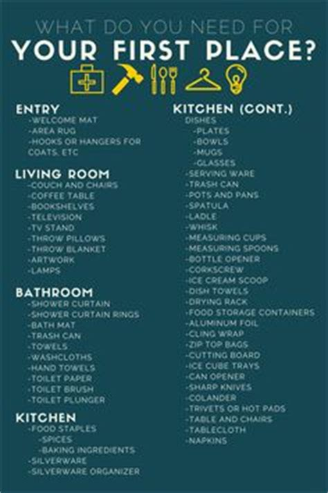 necessary things for house 1000 ideas about new house checklist on pinterest new