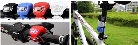 Mtb Bicycle Compass With Trumpet Bell Kompas Sepeda bicycle light waterproof silicone white led mountain bike flashlight 2 pcs black