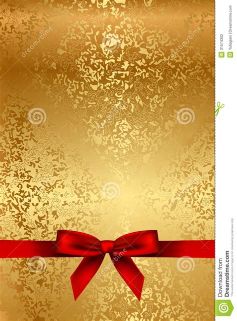 Pita Glitter Metalik 1 gold texture with bow stock photography image 31574302