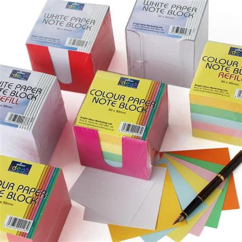 Pom Pom Kertas Uk 9cm note block paper 9cm x 9cm bright ideas crafts