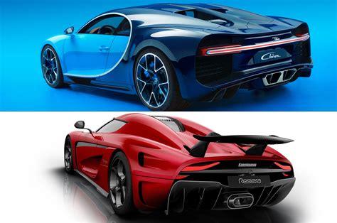 Hypercar Bugatti Chiron Vs Koenigsegg Regera
