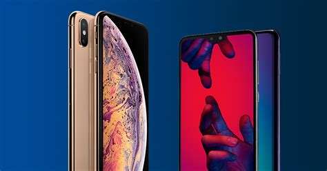 iphone xs max  huawei p pro  mobile