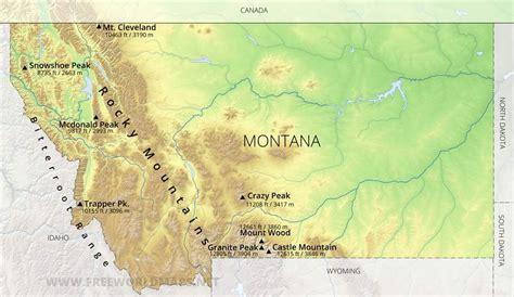 physical map  montana