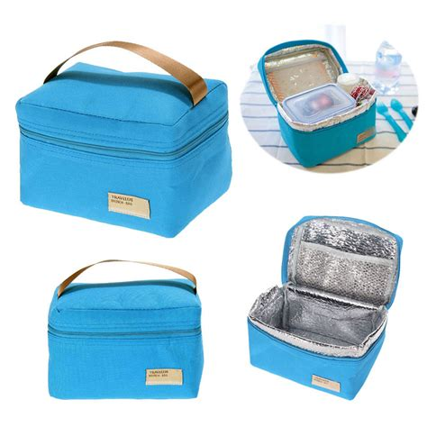 portable insulated thermal snack lunch box waterproof tote travel picnic lunch bag for