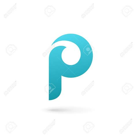 letter p logo icon design template elements royalty