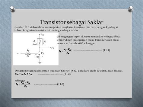 aplikasi transistor bjt sebagai saklar kelompok 6 aplikasi transistor