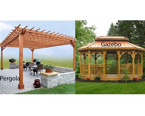 Pergola Vs Gazebo Homeverity Com Gazebos Canopies Pergolas