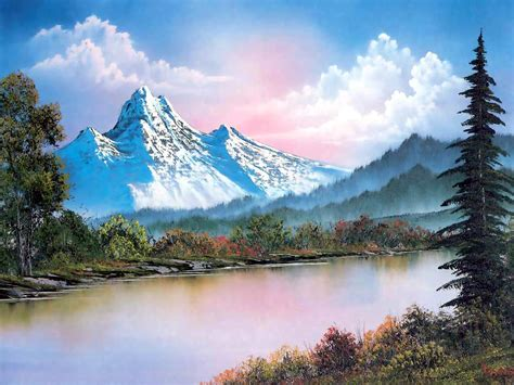 bob ross painting all things sweet b portland gallery pays homage to tv