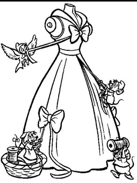 images  cinderella coloring pages
