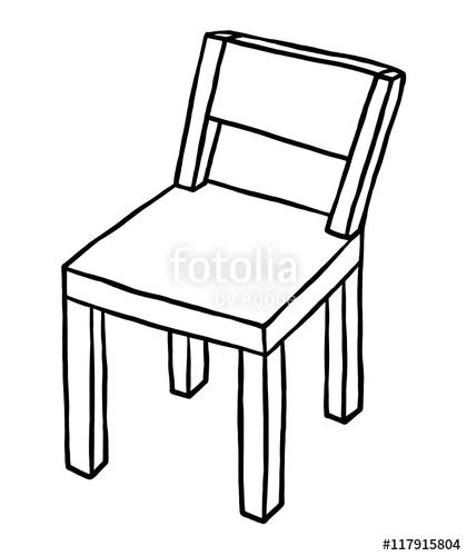 Quot Wooden Chair Cartoon Vector And Illustration Black And White Hand Drawn Sketch Style Vector Image Black White Sketch