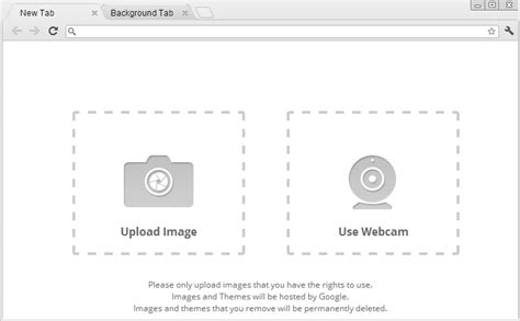 chrome themes upload design your own customize google chrome theme and share it