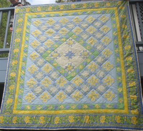 Yellow Patchwork Quilt - handmade patchwork quilt just stunning blue yellow