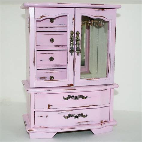 Shabby Chic Jewelry Armoire by Shabby Chic Jewelry Box Armoire Vintage Pink Gum Large