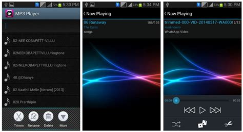 best free mp3 player for android mp3 player 1 0 7 best android apk player cutter