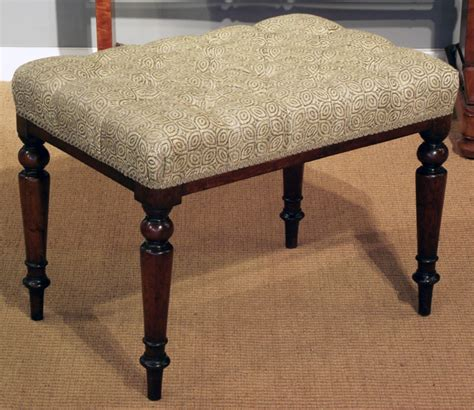 antique mahogany dressing table stool antique stool