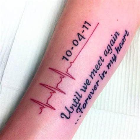 rip heartbeat tattoo die 25 besten ideen zu ekg tattoo auf pinterest