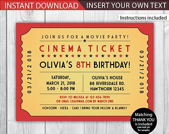 printable ticket invitation free printable movie tickets invitation orderecigsjuice info